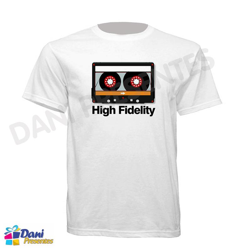 Camiseta Fita Cassete - High Fidelity - 100% Algodão