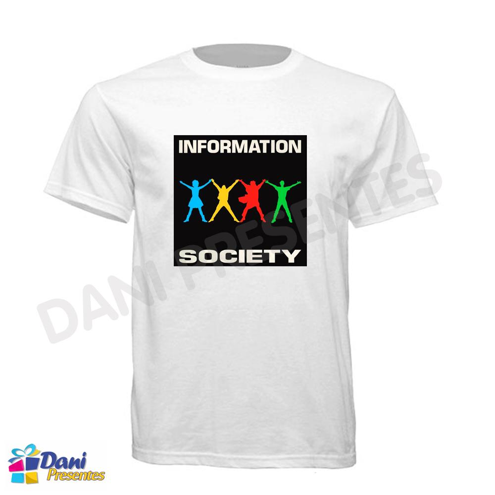 Camiseta Information Society - 100% Algodão