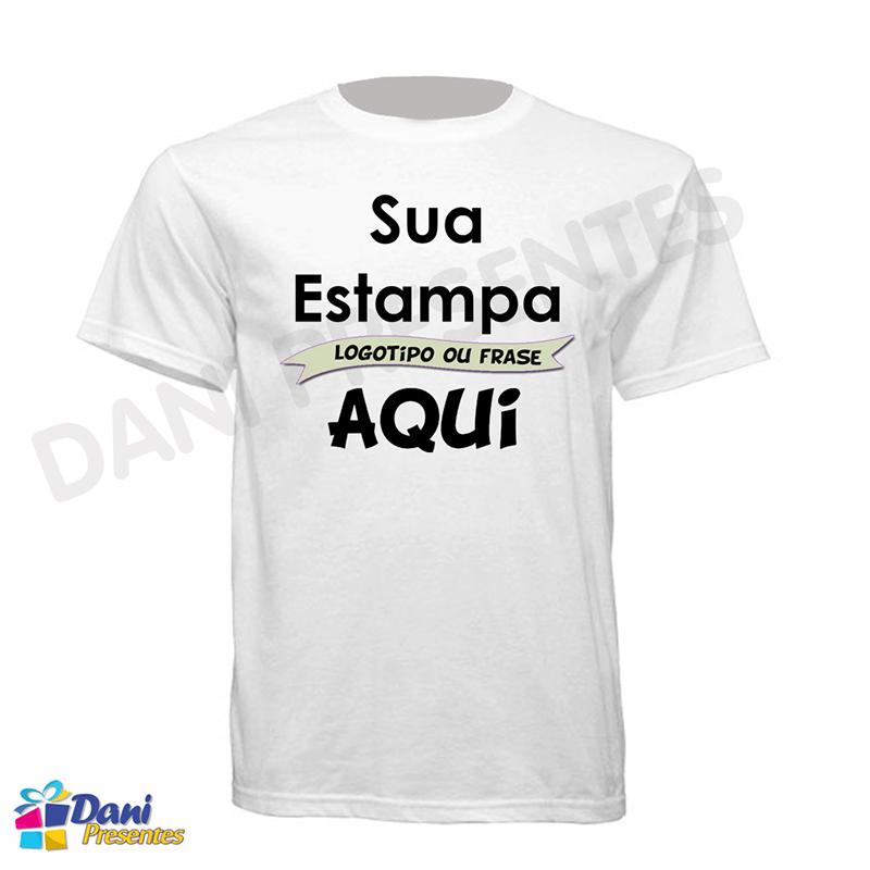 Camiseta Personalizada com Sua Estampa - 100% Algodão