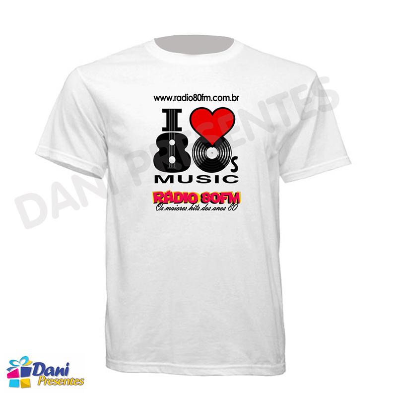 Camiseta Rádio 80FM - 100% Algodão