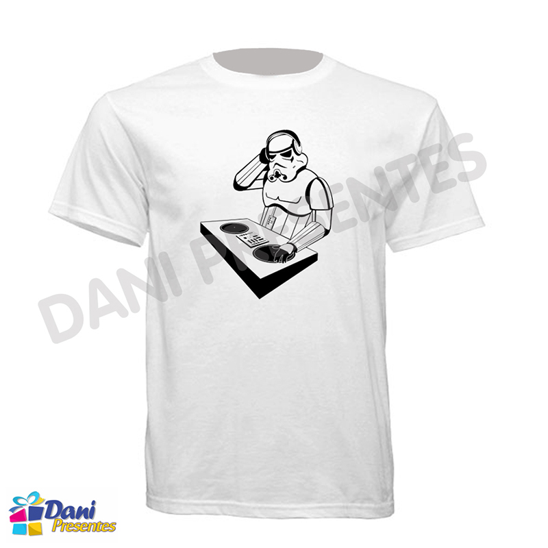 Camiseta Star Wars Stormtroopers DJ - 100% Algodão