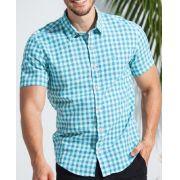 Camisa Ankor de Linho Xadrez Verde
