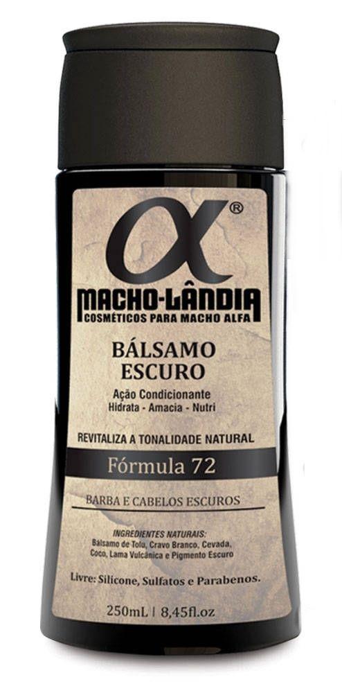 Balsamo Macho Lândia Formula 72 - Barba e Cabelos Escuros