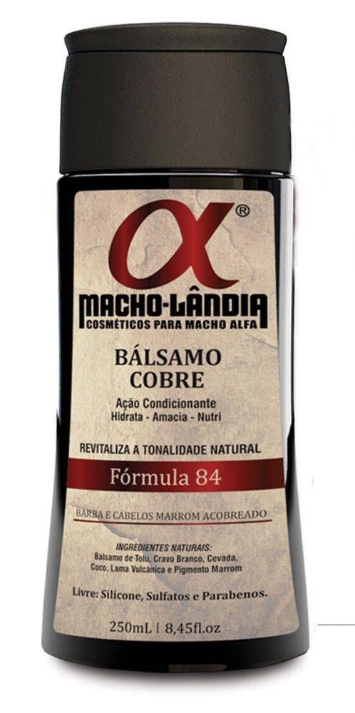 Balsamo Macho Lândia Formula 84 - Barba e Cabelos Ruivos ou Marrons