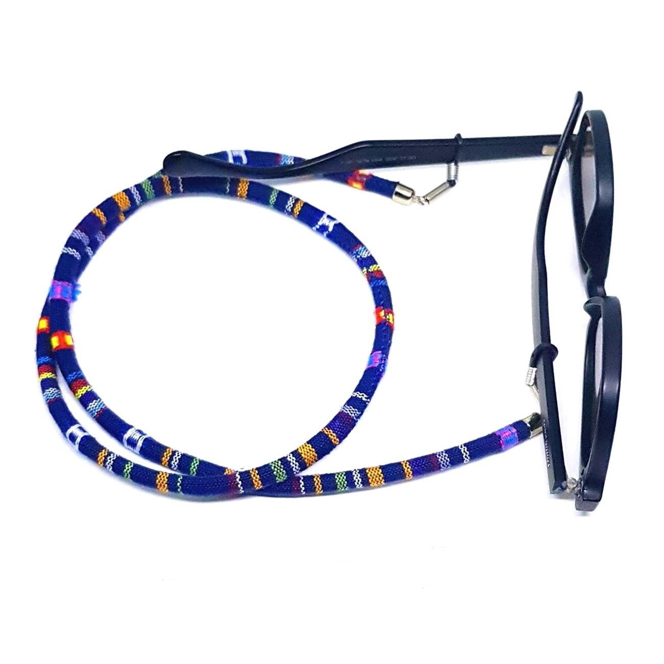 Cordão Para Óculos Étnico Azul Marinho