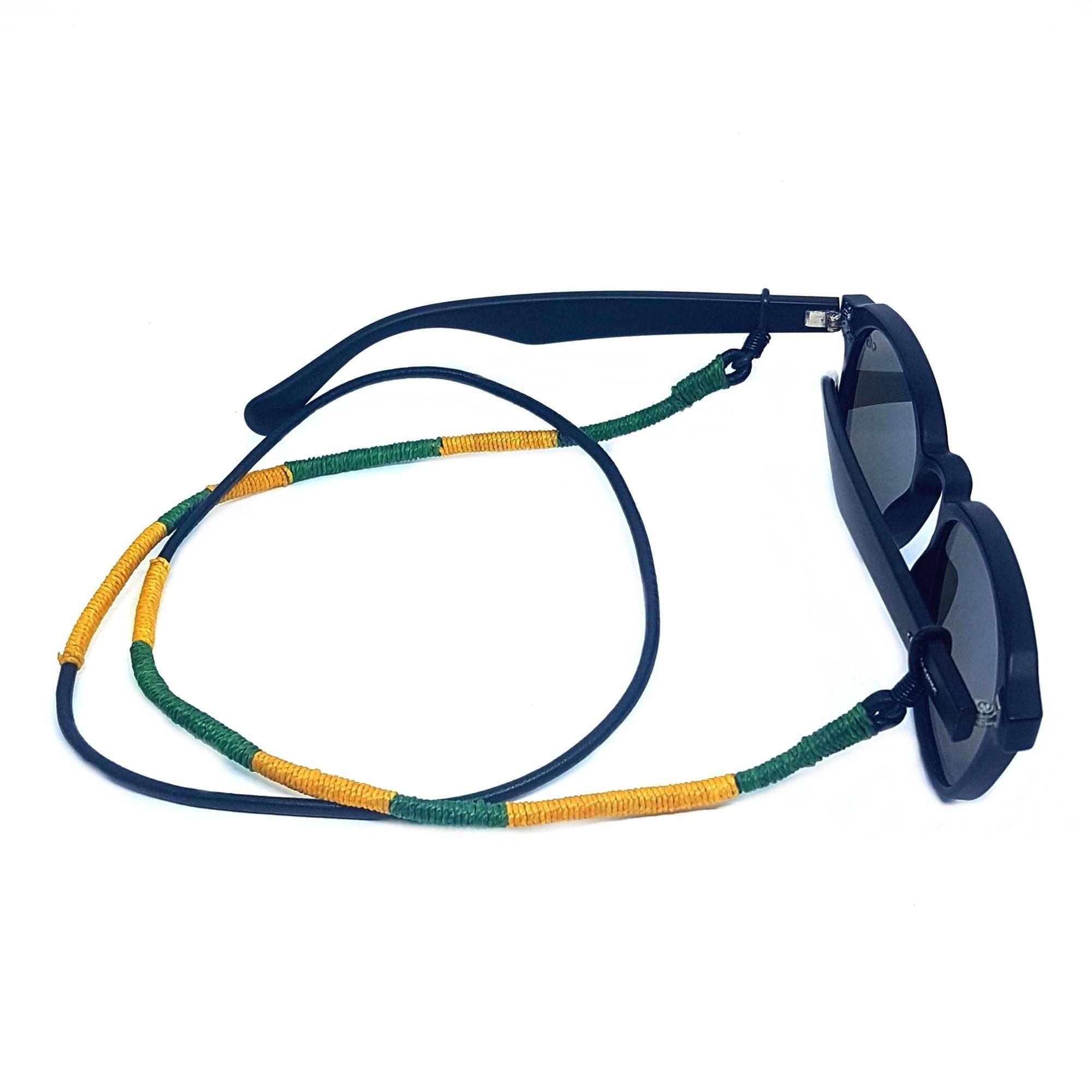 Cordão Empório Top Para Óculos Verde e Amarelo