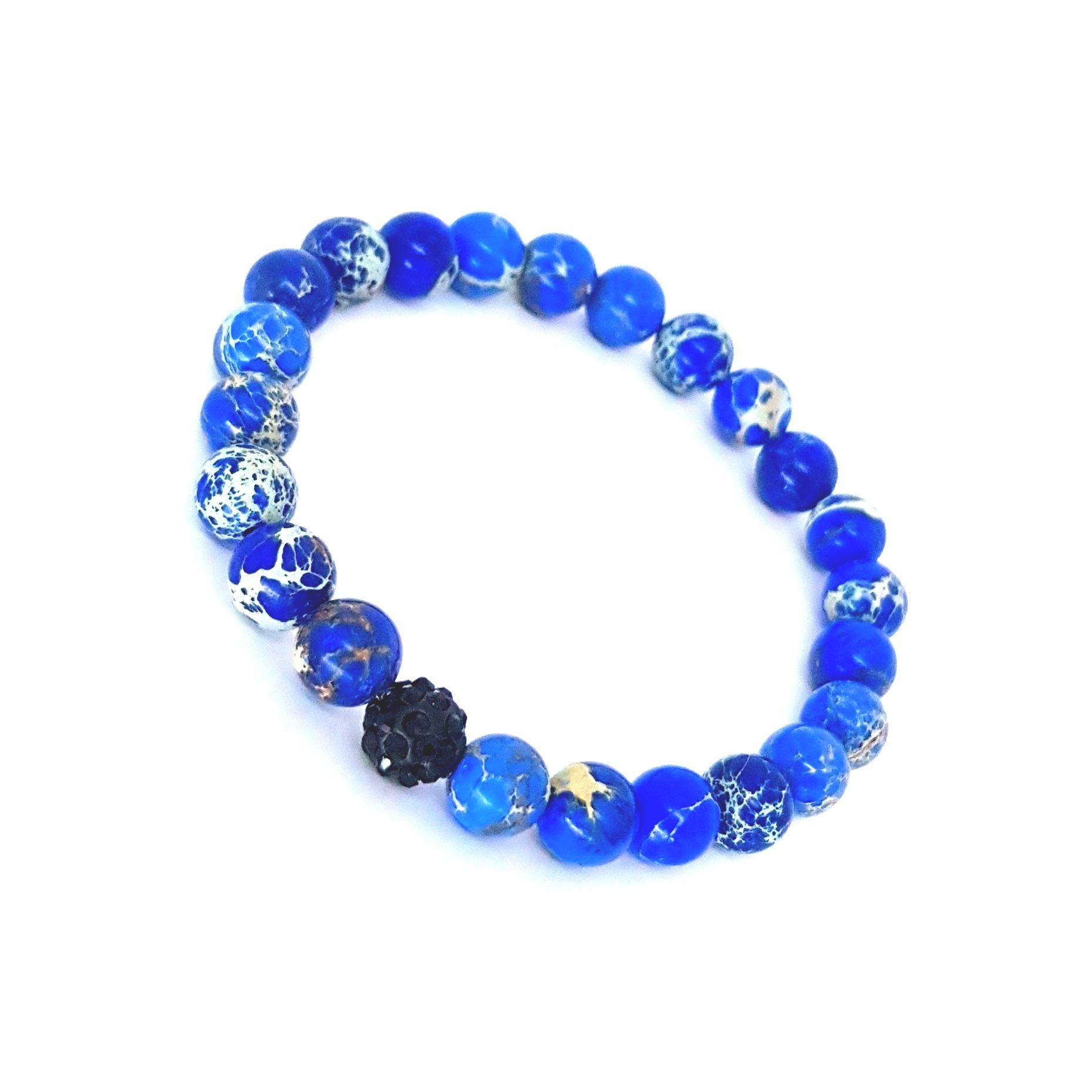 Pulseira de Pedra Azul Jasper