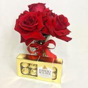 Ferrero Rocher e Rosas Colombianas no Vidro