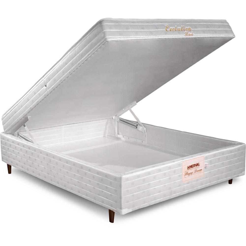 CAMA BOX BAU CASAL MOLA BONNEL COM PILLOW-TOP