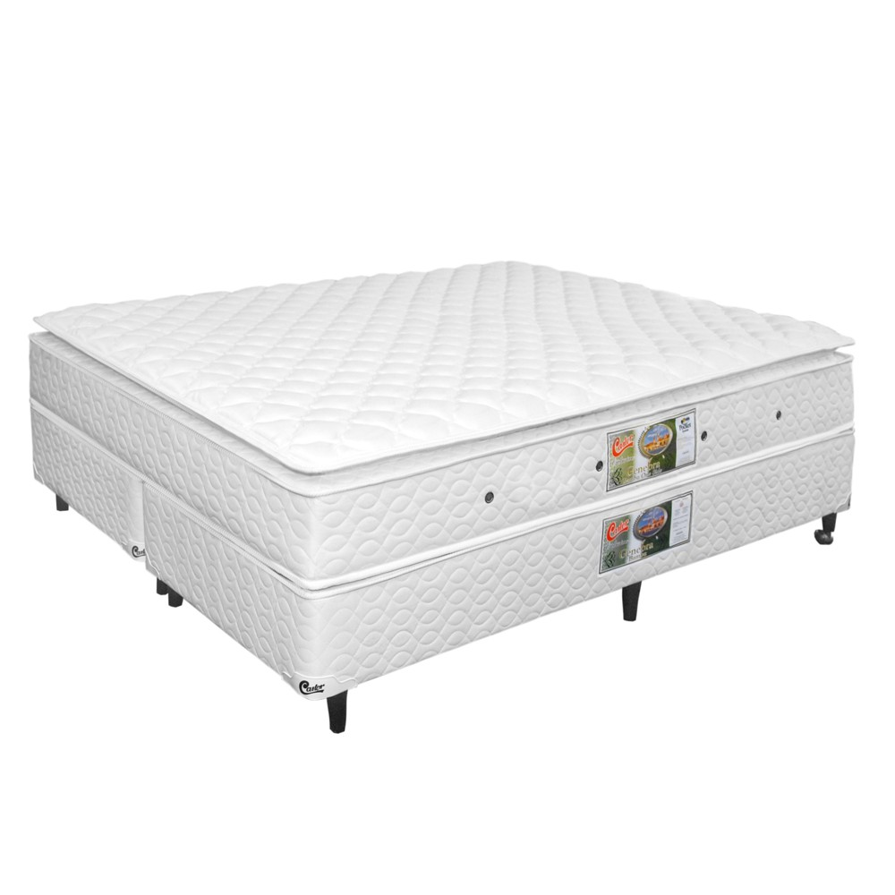 fc893e78a CAMA BOX KING SIZE SIMPLES MOLA BONNEL COM PILLOW-TOP - Império Mendes