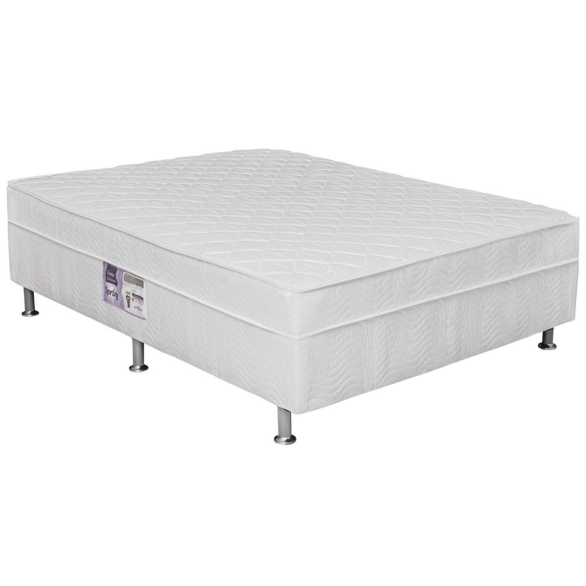CAMA BOX QUEEN SIZE SIMPLES MOLA BONNEL COM PILLOW-TOP