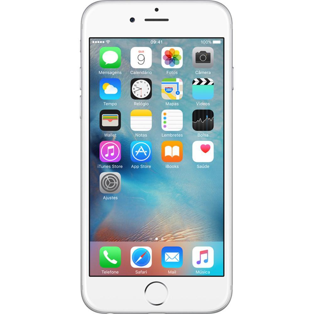"iPhone 6 16GB Prata Tela 4.7"" iOS 8 4G Câmera 8MP - Apple"