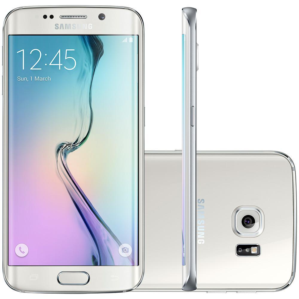 "Samsung Galaxy S6 Edge 64GB 4G Android 5.0 Tela 5.1"" Câmera 16MP - Branco"
