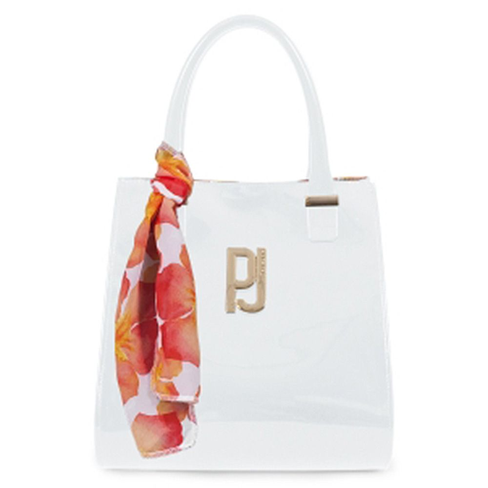 Bolsa Folder Branca Detalhe Lenço Petite Jolie PJ2920