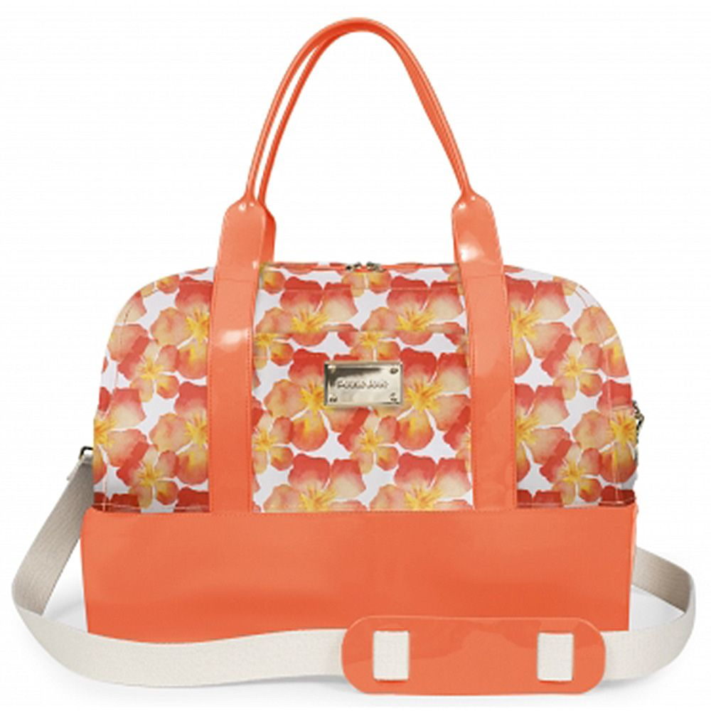 Bolsa Grande Weekend Bag Petite Jolie Laranja/Estampa PJ2266