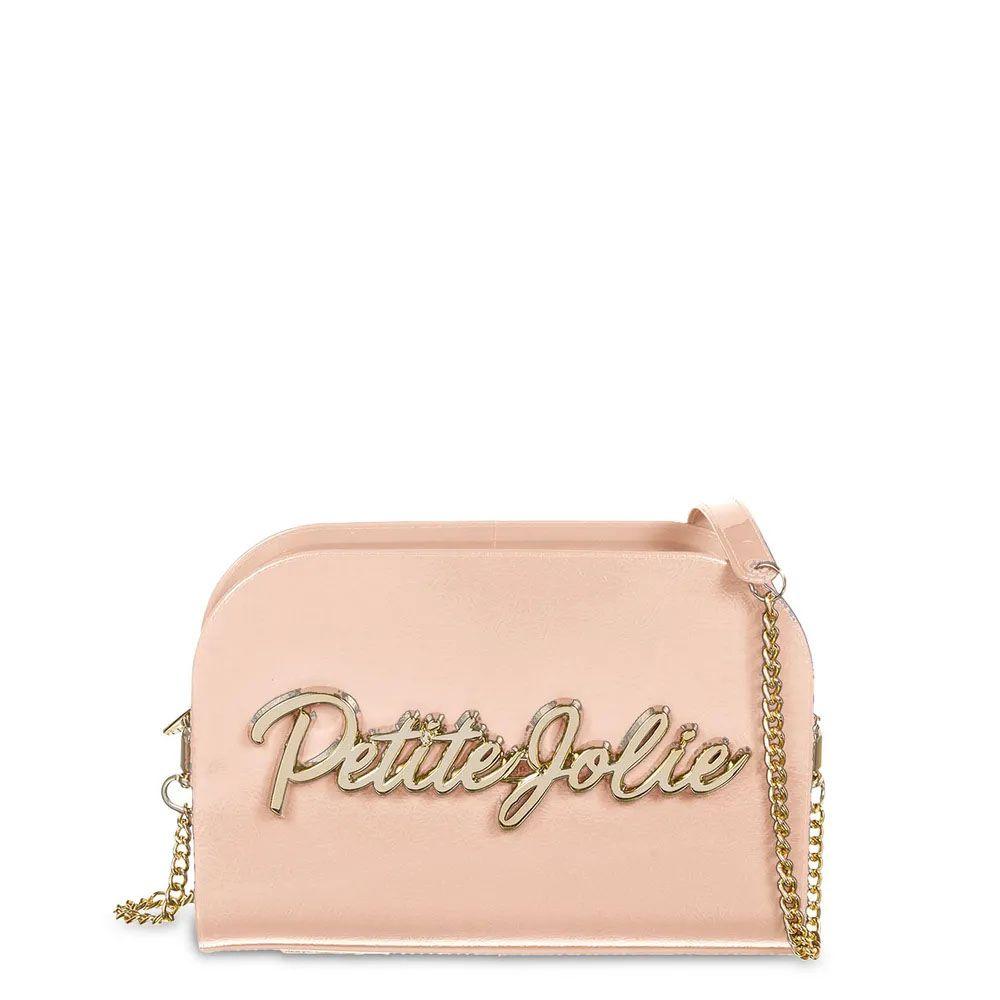 Bolsa Pretty Logo Dourada / Grafite Petite Jolie PJ4518 - Záten