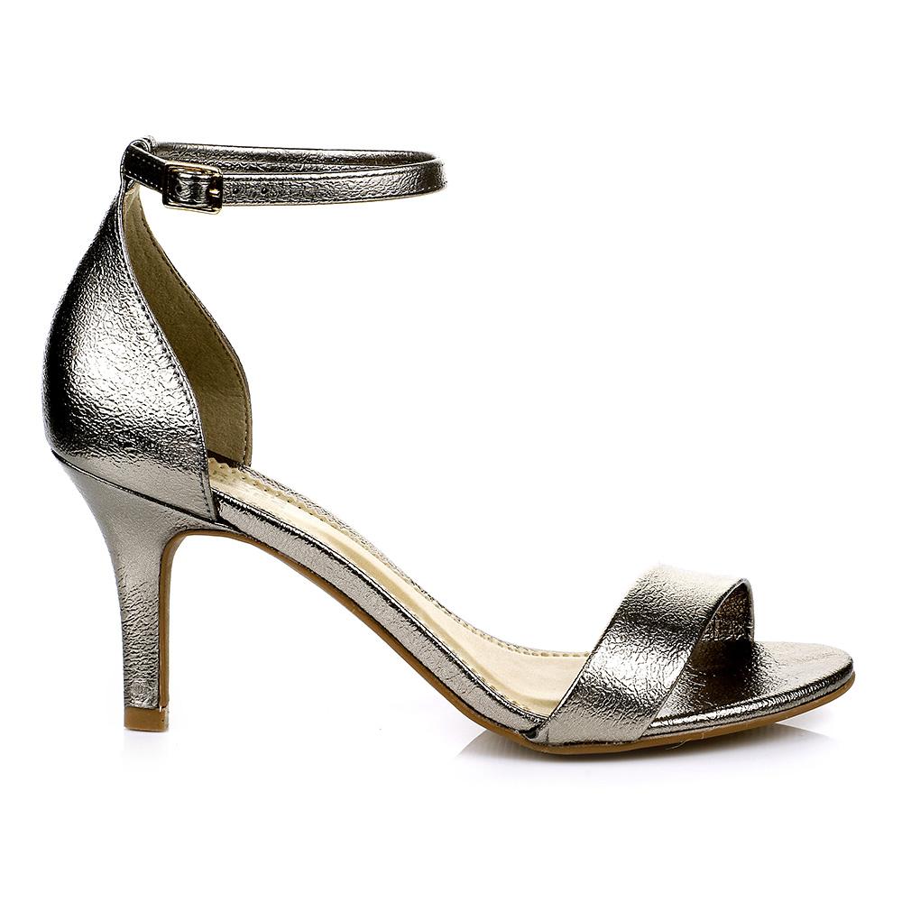 2d11eb6f5 Sandália Salto Baixo Prata Velha Urban Shoes 958.8162Urban ShoesZáten