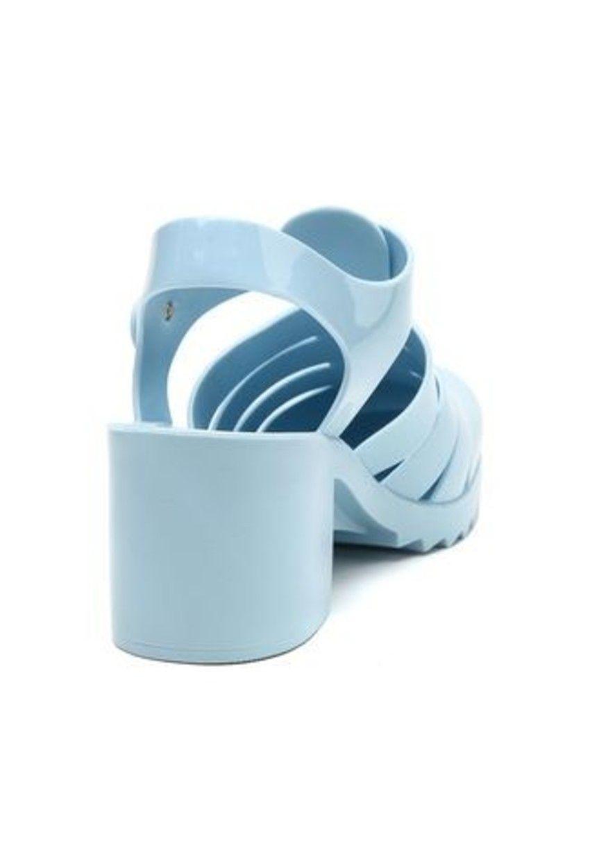 Sandalia Salto Bloco Amora Azul PJ1254