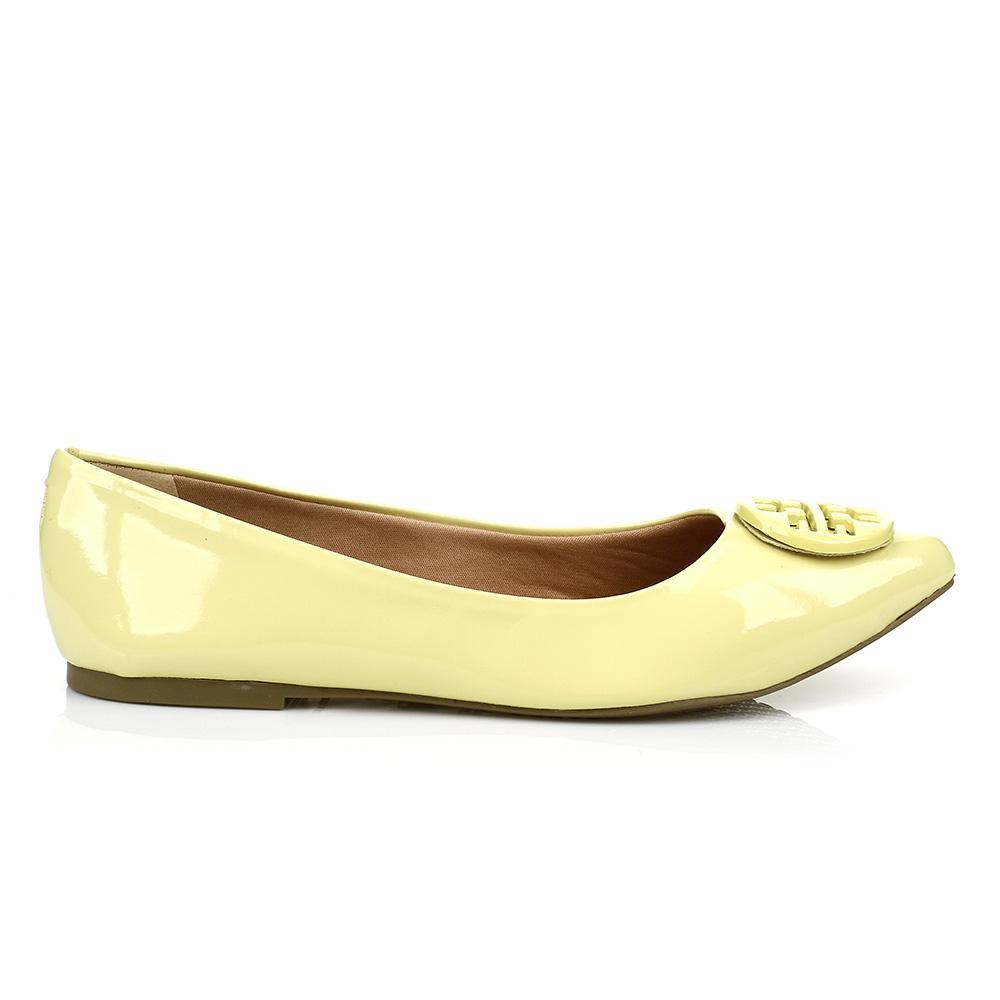 Sapatilha Bico Fino Detalhe Amarela Sua Cia 10928