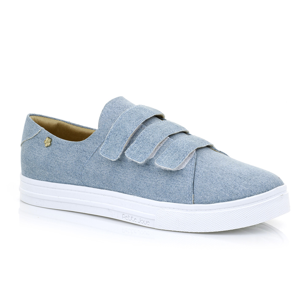 Tênis Casual Velcro Jeans Petite Jolie PJ2305
