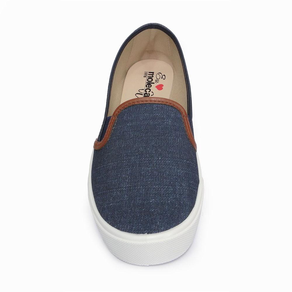 Tênis Slip On Jeans Listrado Moleca 5296.101