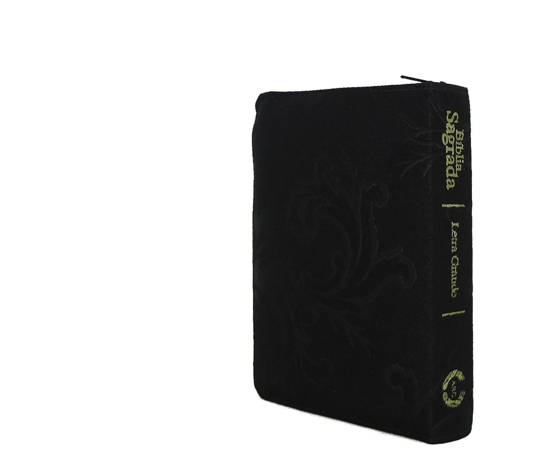 Biblia CCB Letra Grande Preta com Ziper
