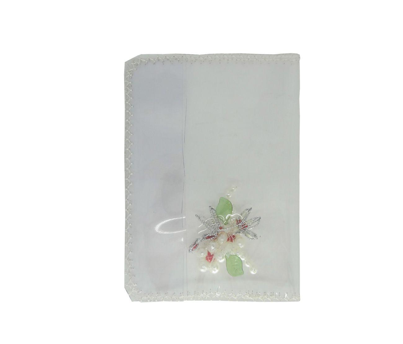 Capa para Bíblia com Hinário Pequeno Transparente com Strass
