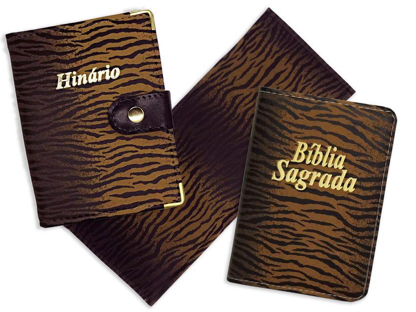 Kit de Capa de Hinário de Cântico + Bíblia + Ajoelhador