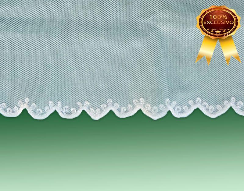 Véu CCB  Verona 90% Algodão Bordado - 022057