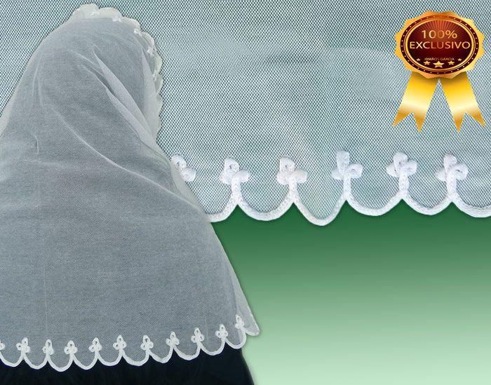 Véu CCB Verona (90% Algodão) Bordado - 022055