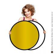 Rebatedor Flexível | Circular Ouro/Branco Ø82cm