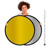 Rebatedor Flexível | Circular Ouro/Prata Ø107cm