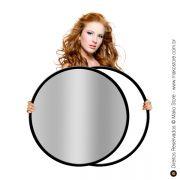 Rebatedor Flexível | Circular Prata/Branco Ø82cm