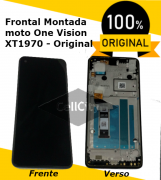 DISPLAY MOTOROLA MOTO ONE VISION XT1970 BRONZE PRETO ORIGINAL