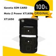 XT1650, SUPORTE DO SIM CARD, GOLD, MOTO Z POWER EDITION FINE GOLD E BRANCO