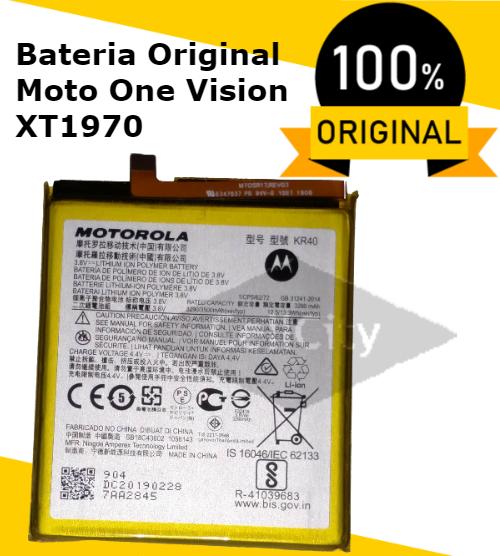 BATERIA MOTOROLA MOTO ONE VISION ORIGINAL KR40 XT1970 3.8v, 3500mAh