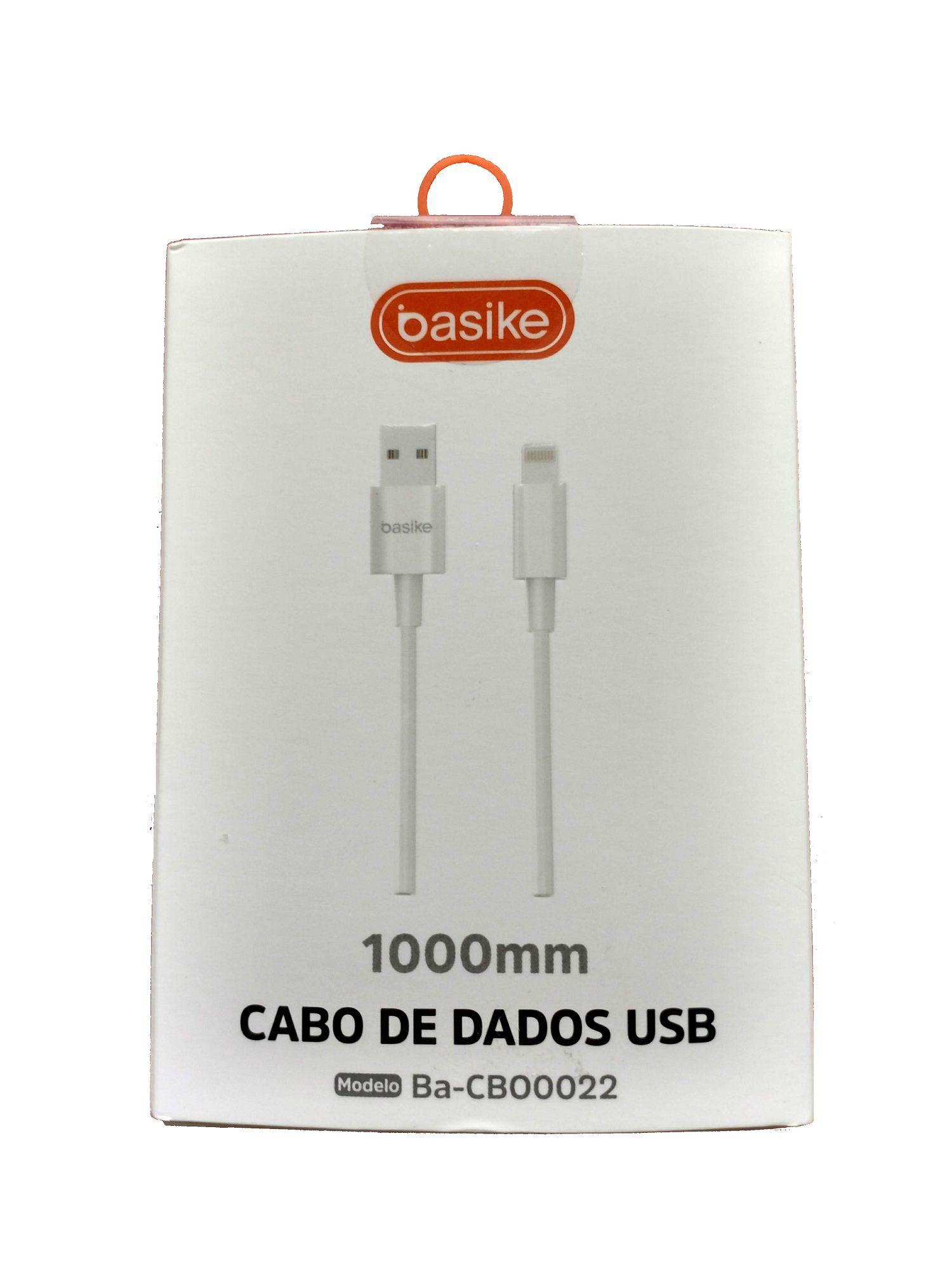 CABO DE DADOS, APPLE IPHONE 5 6 7, 8, BRANCO BASIKE, 1 M
