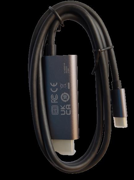 Cabo de dados TIPO C - HDMI (Cabo USB - Tipo C e H) Compatível com Ready For