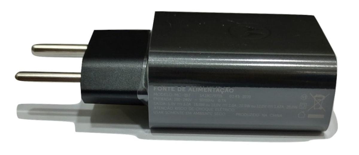 Carregador Turbo Power 20W Motorola 3A Original Motorola USB