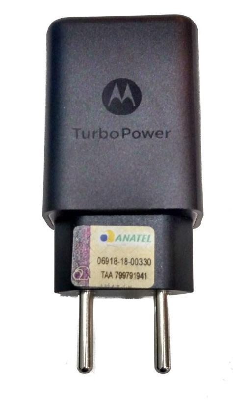 Carregador TurboPower 27W 5/9V, 3A Original Motorola Somente BASE Tipo C