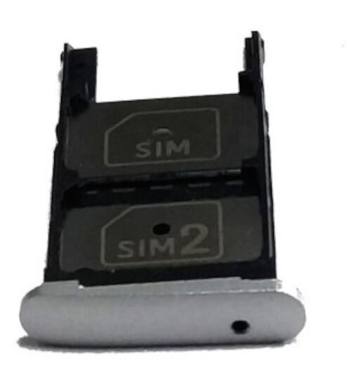 GAVETA DO SIM CARD SUPORTE ORIGINAL MOTO Z PLAY PRATA XT1635