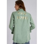 Camisa Pour Femme Verde