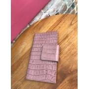 Carteira Feminina em couro com textura - Rosê
