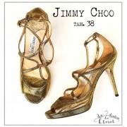 Sandália Jimmy Choo Salto Dourado