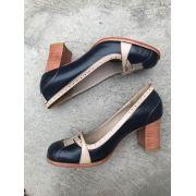 Sapato Marinho/Natural