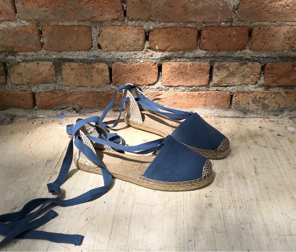 Alpargata Lona Flatform Azul Graziela  - Angelina Vai às Compras
