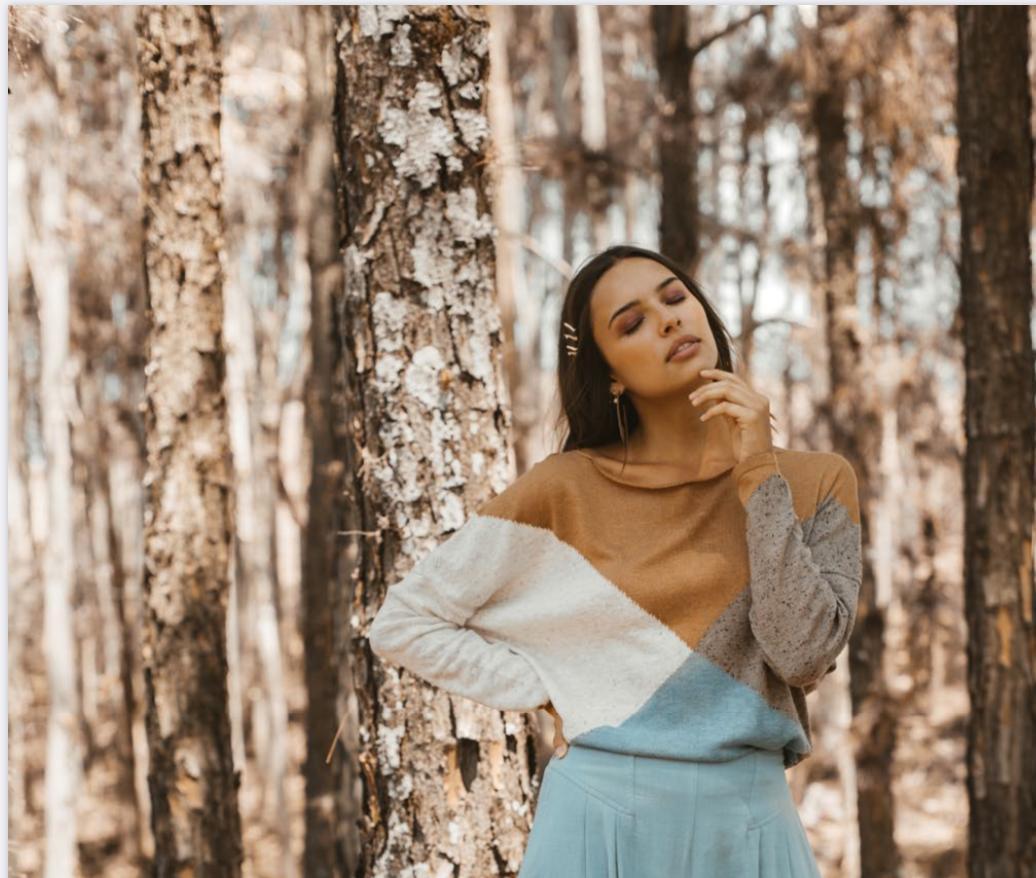 blusa tricot losango neblina  - Angelina Vai às Compras