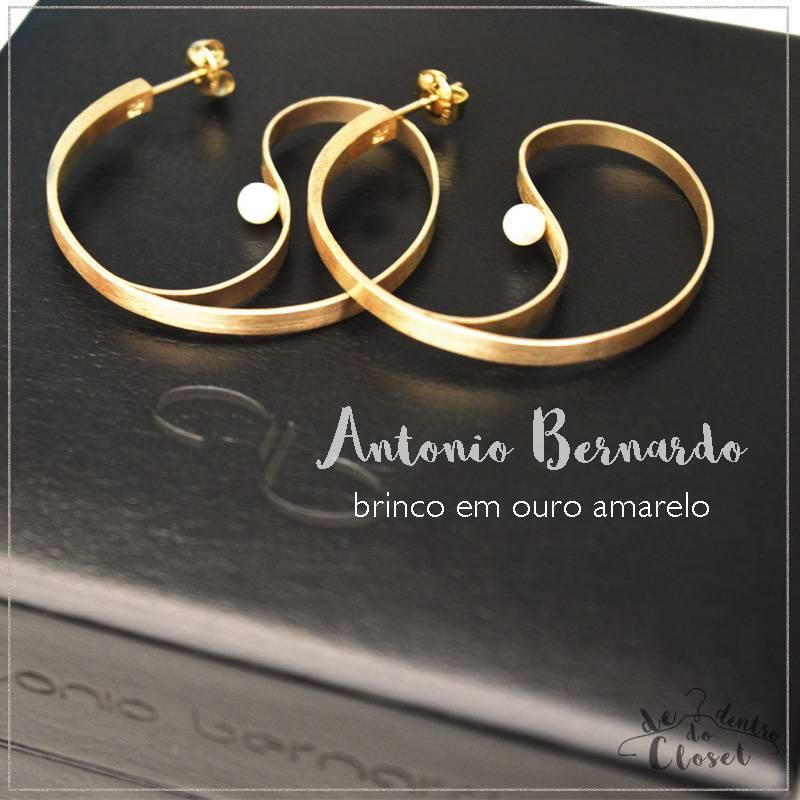 Brincos com Pérolas Antonio Bernardo