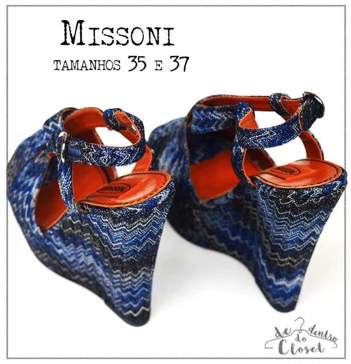 Plataforma Missoni Azul