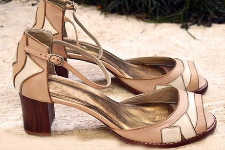 Sandália Recortes Natural